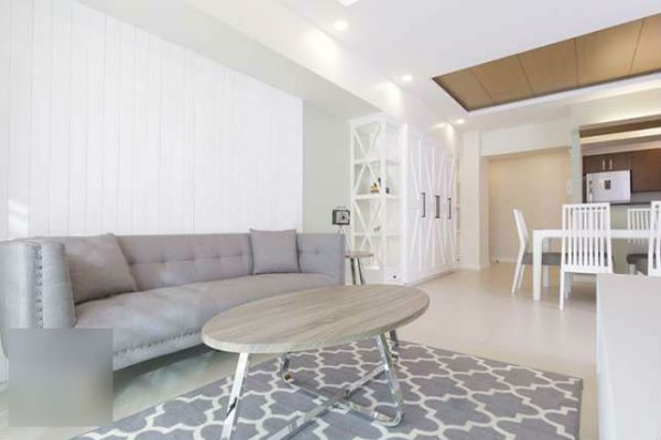 Two Bedroom Interior Designed With Balcony @ Two Serendra Red Oak Rental