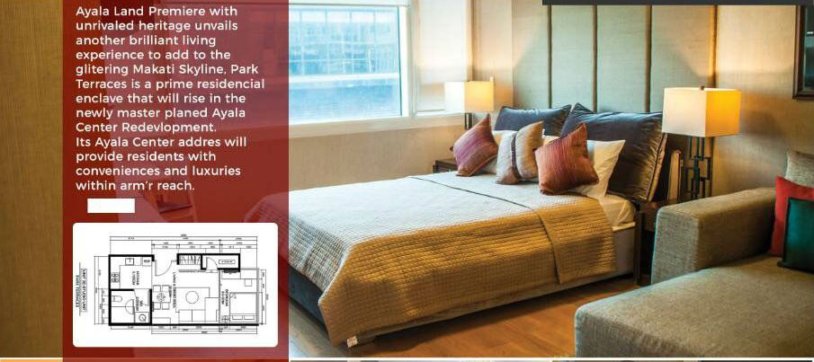Studio Type Condominium Unit For Sale in Park Terraces at Park Terrace ... Makati