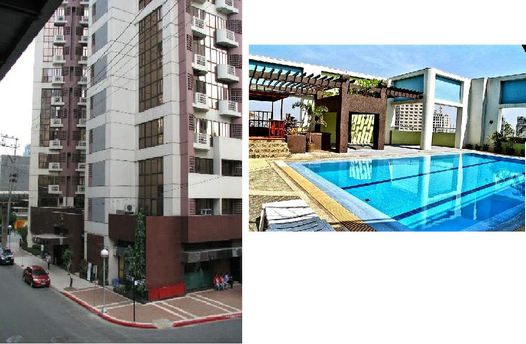 Prince plaza For rent studio type furnished in Legazpi Village, Makati