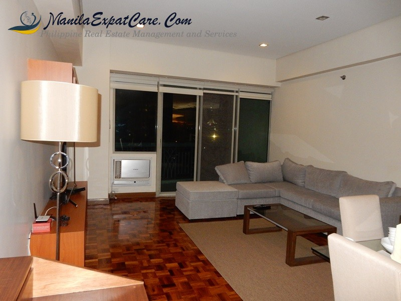 Legaspi Village Apartments & Condos For Rent - 2 BR Makati frabelle condominium with official receipt or company fully furnished with balcony