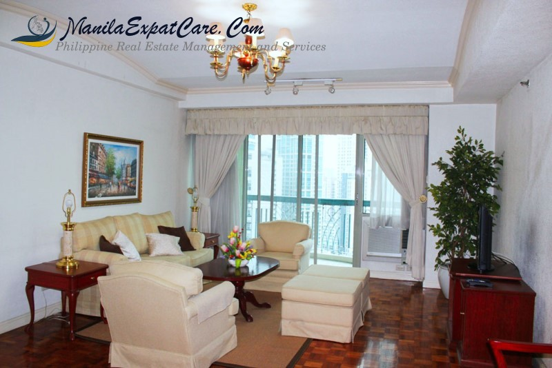 greenbelt Makati, Frabelle Condominiums for Rent with balcony