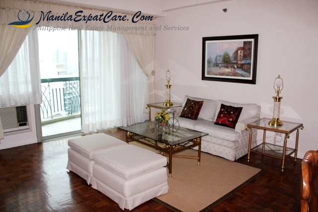 Makati 2BR fully furnished condo for rent with balcony allowed pets