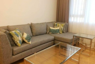 Park Terraces corner unit 1 bedroom rent fully furnished & maid's room